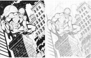 rooftop spiderman commission by TonyKordos