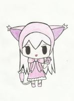 Kawaii Skitty Gijinka by Mishroomish