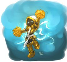 Tyrael cheering by crimson-nemesis