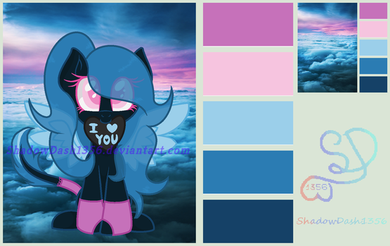 CLOSED MLP Blue Sky Palette Auction by ShadowDash1356