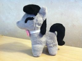 Cello-Playing Pony Plushie by Amberine