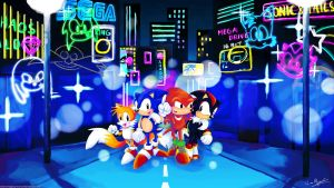 A Night out with Sonic, Tails, Knuckles and Shadow by MissNeens