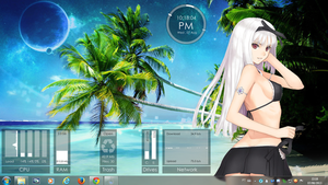Girl Beach Rogers1967 Rainmeter by Rogers1967