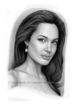 Angelina Jolie semi-detailed by petbet1