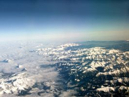 High above the Alps by Thaash