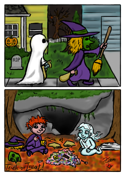 Trick Or Treat! by Ecleian