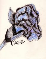 Blue and Purple Rose by fuudgiee