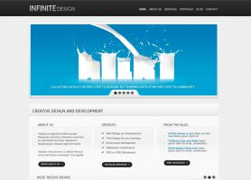 Infinite Light Theme Free PSD by manu3l9816
