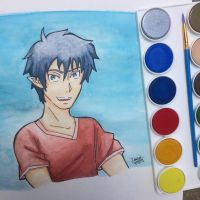 Rin Okumura: Watercolor Practice by chochons