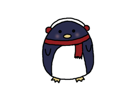 Winter Penguin by sillywall