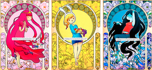 Adventure Time Art Nouveau by Spiritless19