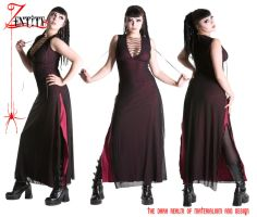 Divizion Dress in Magenta by Z-ENTiTY