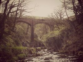 old welsh mining bridge by GazPoo
