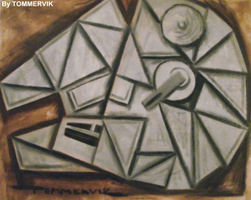 millenium falcon abstract cubism by TOMMERVIK