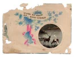 Ever So Many Good Wishes - Vintage 1940s by caffeine2