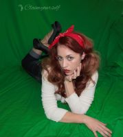 Pinup Red Stock 2 by ClaimYourself