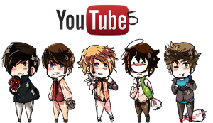 [Youtuber 5] - Chibi Main 5 by eevee2glaceon09