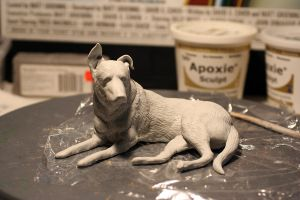 Dog sculpt commission (in progress) by SculptorScotty