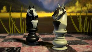 Chess Pieces by Chief-forrunner