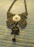 Filigree Butterfly Pendant by JLHilton