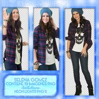 Selena Gomez Shoot PNG'S -Neon Lights PNG'S by SoffMalik