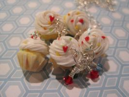 Confetti Cupcake Charms by WaterGleam