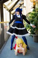 Panty and Stocking doing Gangnam Style by Ichimy-Sama