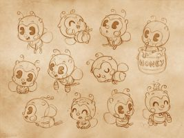 bee pose sheet by lilibz