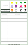 Heart Chart Template by 3933911