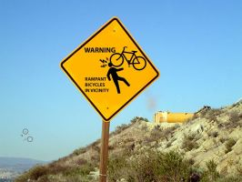 Rampant bicycles in vicinity by A-Bicycle