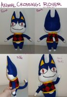 Animal Crossing - Rover Plushie by Kireikage