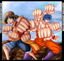 collab- Luffy and Toriko by thelucasrbp