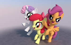 Cutie Mark Crusaders Yay! by DeathPwny