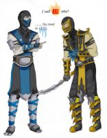 Scorpion and Sub-Zero by ProtoStrife