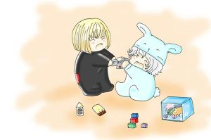 stop fighting mello and near by Lamliet