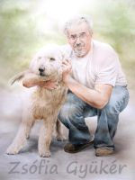 Mihaly and his Dog by ZsofiaGyuker