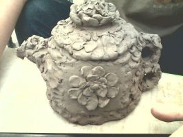 Flowery Teapot WIP by ashleigheperry