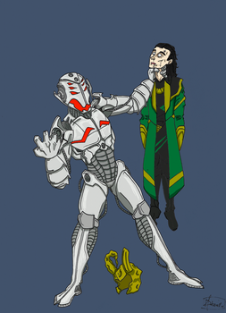 Ultron/Loki by DHamienH