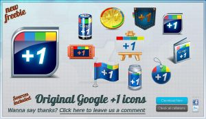 Google +1 original free icons by WordPressThemeShock