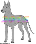 (P2U - 100pts) Domestic Canine Base by sphynxpunk
