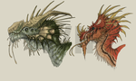 WIP - Dragon Heads Nr. 1 and Nr. 2 by FabrizioDeRossi