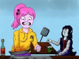 First Student Meal by Novum-Semita