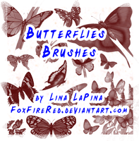 Butterflies Brushes by FoxFireRed