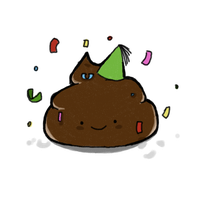 Poo With Party Hat by ChemicalActive