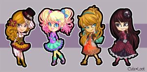 Fashion Chibis by cute-loot