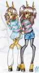 Ronja and Ruth Nosey (Monster High OCs) by MikuPapercraft