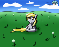 Derpy Siting with Background by DarkenGales