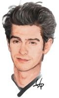 Painting Andrew Garfield by gizhel