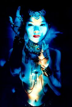 Japanese Belly Dancer by LIGHT-PAINTING