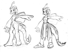 Laira Dress Roughs by Cellsai